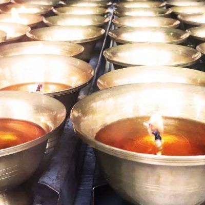 Butter Candle Tango University Temple, Bhutan