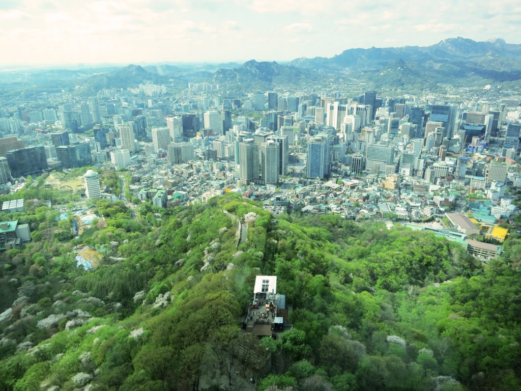 View from N Seoul Tower, South Korea